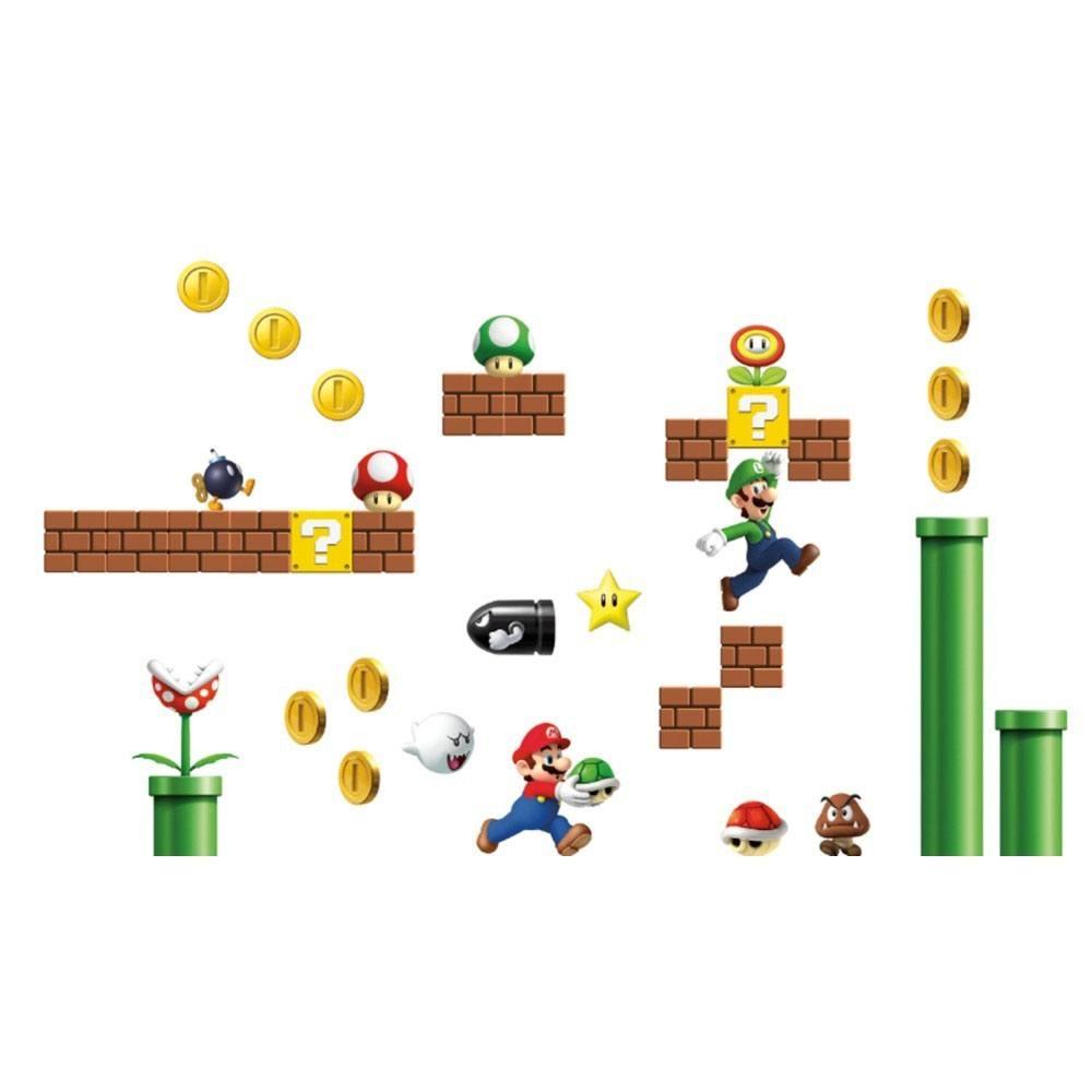 Nintendo Giant Vinyl Wall Decal Set Super Mario Bros.