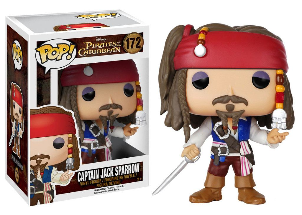 Pirates of the Caribbean POP! Vinyl Figure Captain Jack Sparrow 9 cm