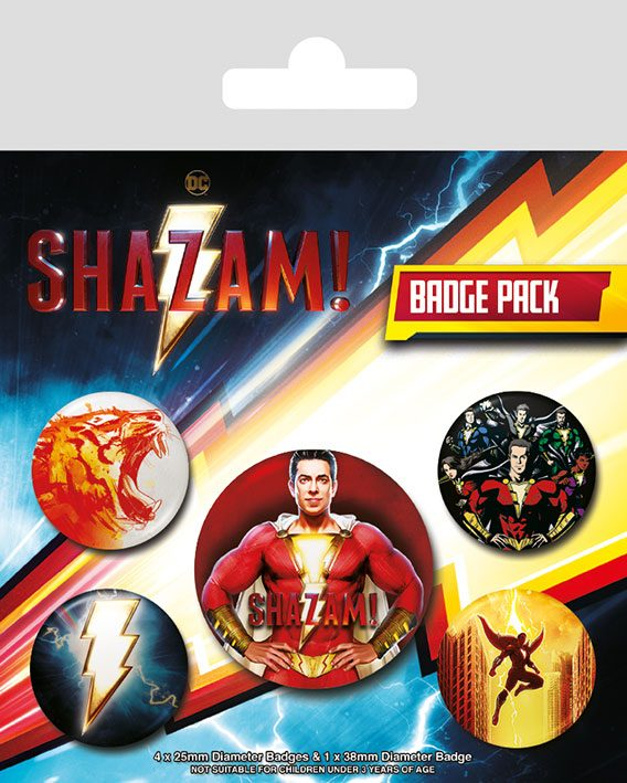 Shazam! Pin Badges 5-Pack Power