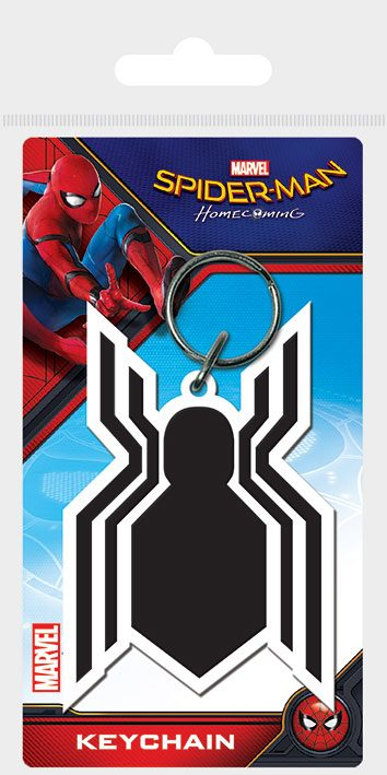 Spider-Man Homecoming Rubber Keychain Symbol 6 cm
