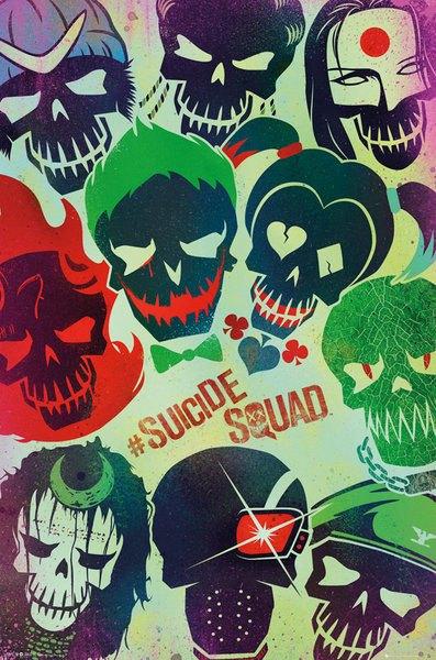 Suicide Squad Poster Pack Faces 61 x 91 cm (5)