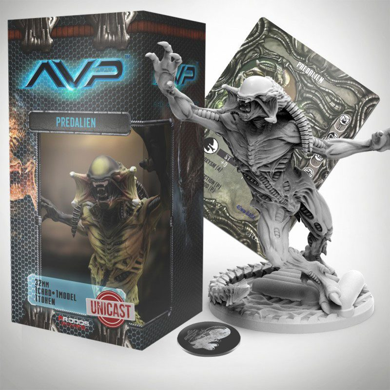 AvP Tabletop Game The Hunt Begins Expansion Pack Predalien UniCast Edition
