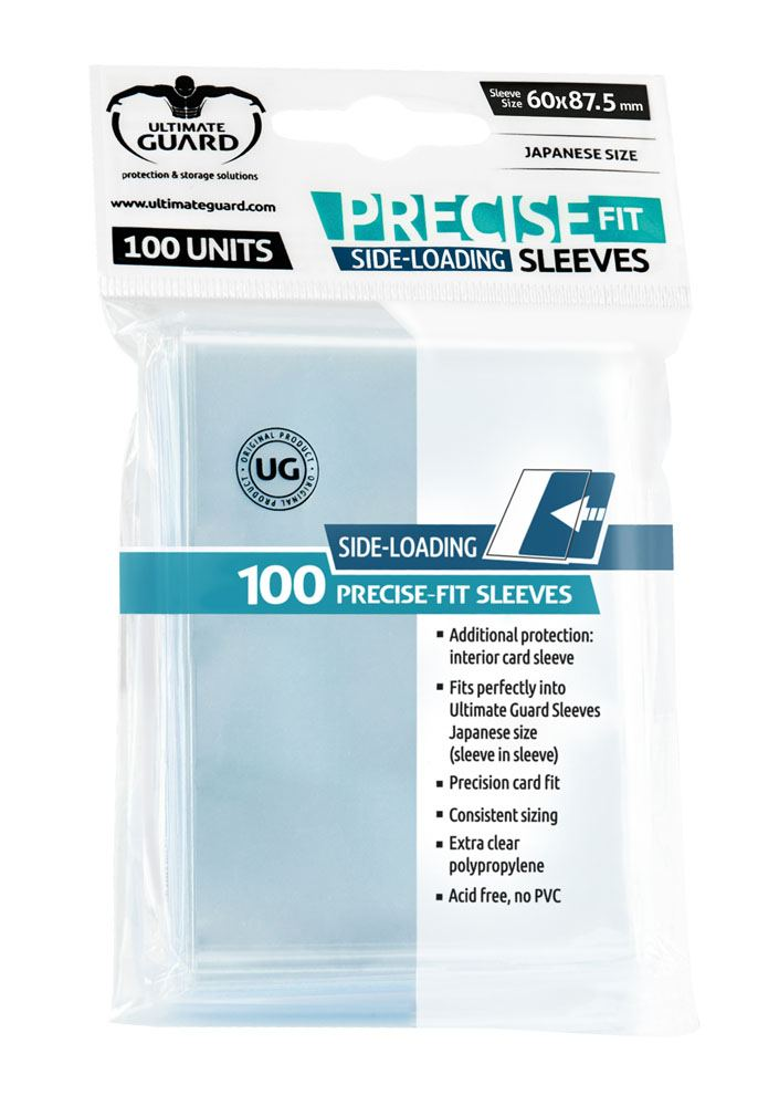 Ultimate Guard Precise-Fit Sleeves Side-Loading Japanese Size Transparent (100)