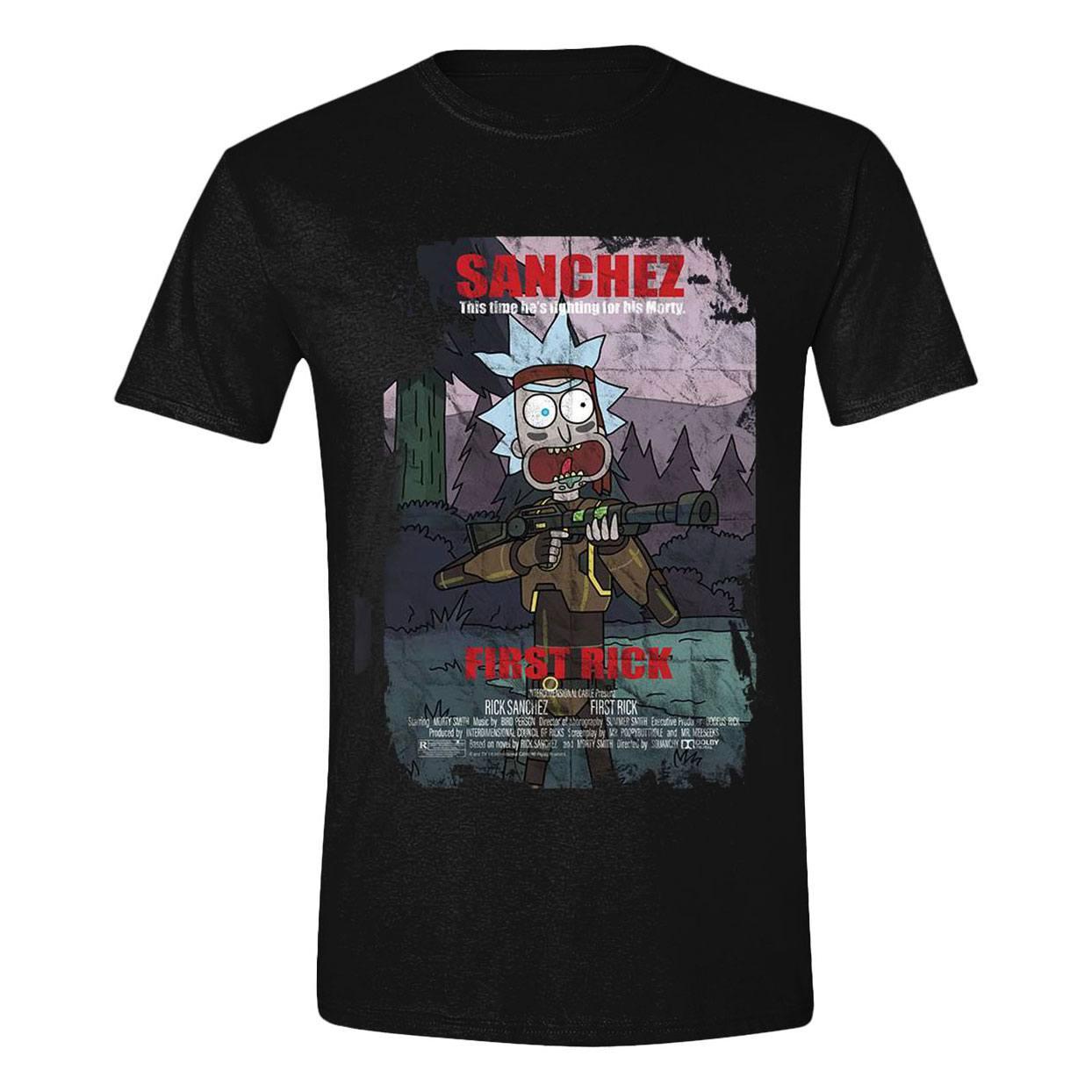Rick & Morty T-Shirt First Rick Poster Size XL