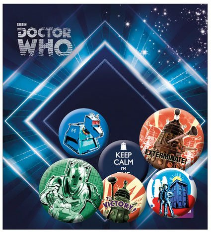 Doctor Who Pin Badges 6-Pack Retro