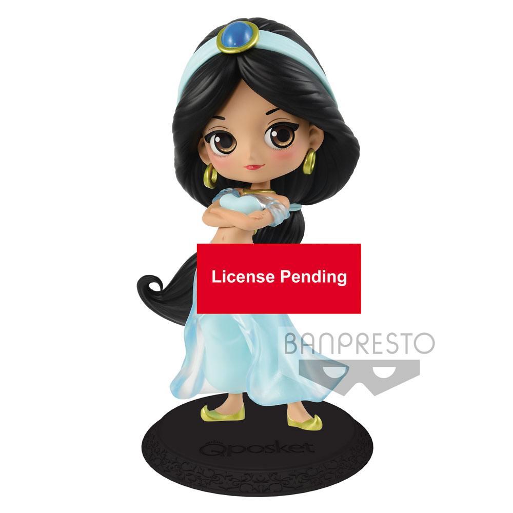 Disney Q Posket Mini Figure Jasmine Princess Style Pastel Color Ver. 14 cm