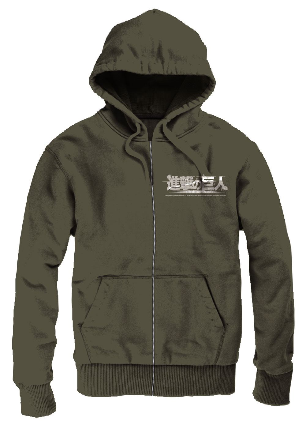 Attack on Titan Hooded Sweater Scout Size XL