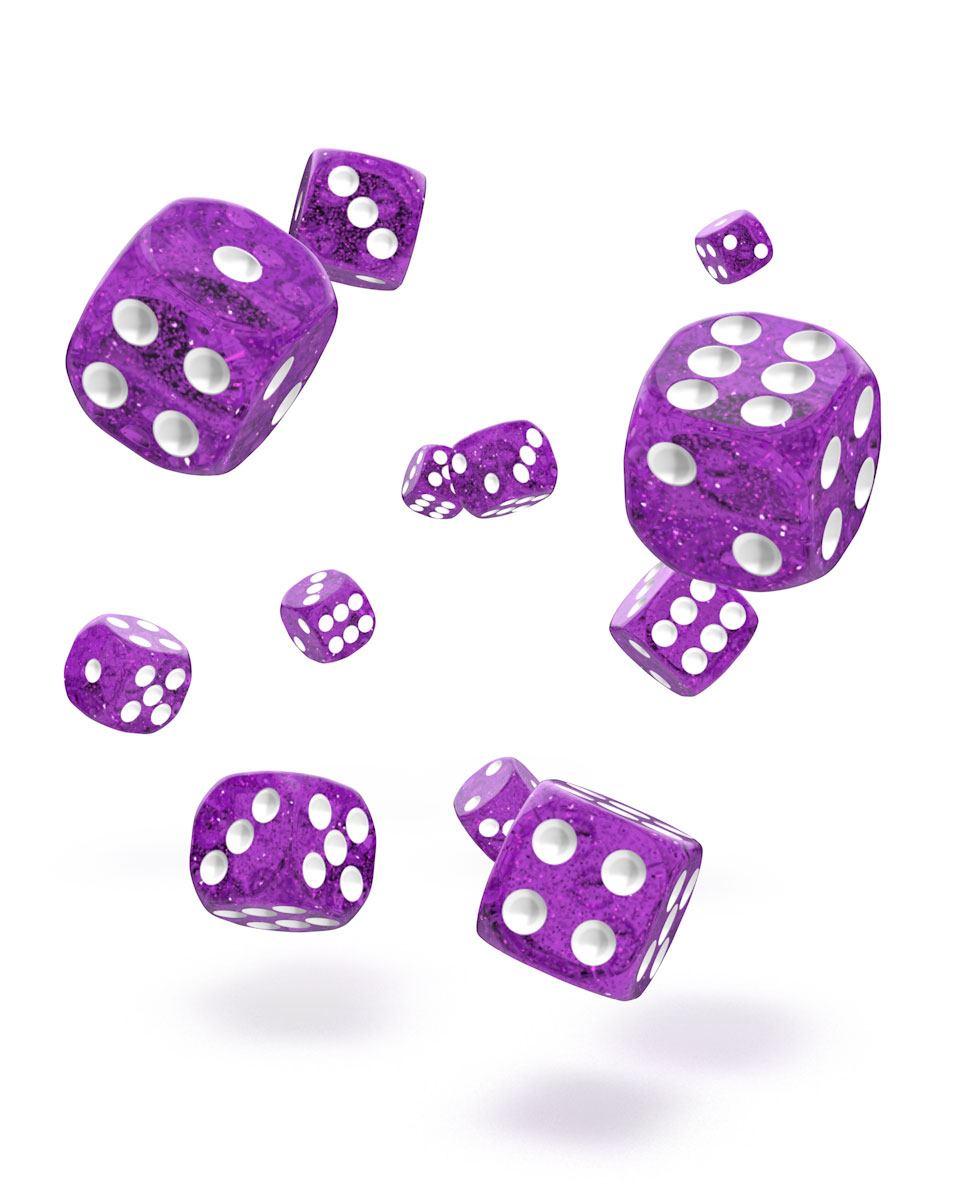 Oakie Doakie Dice D6 Dice 12 mm Speckled - Purple (36)