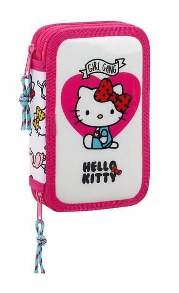 Hello Kitty 28-Piece Double Pencil Case Girl Gang