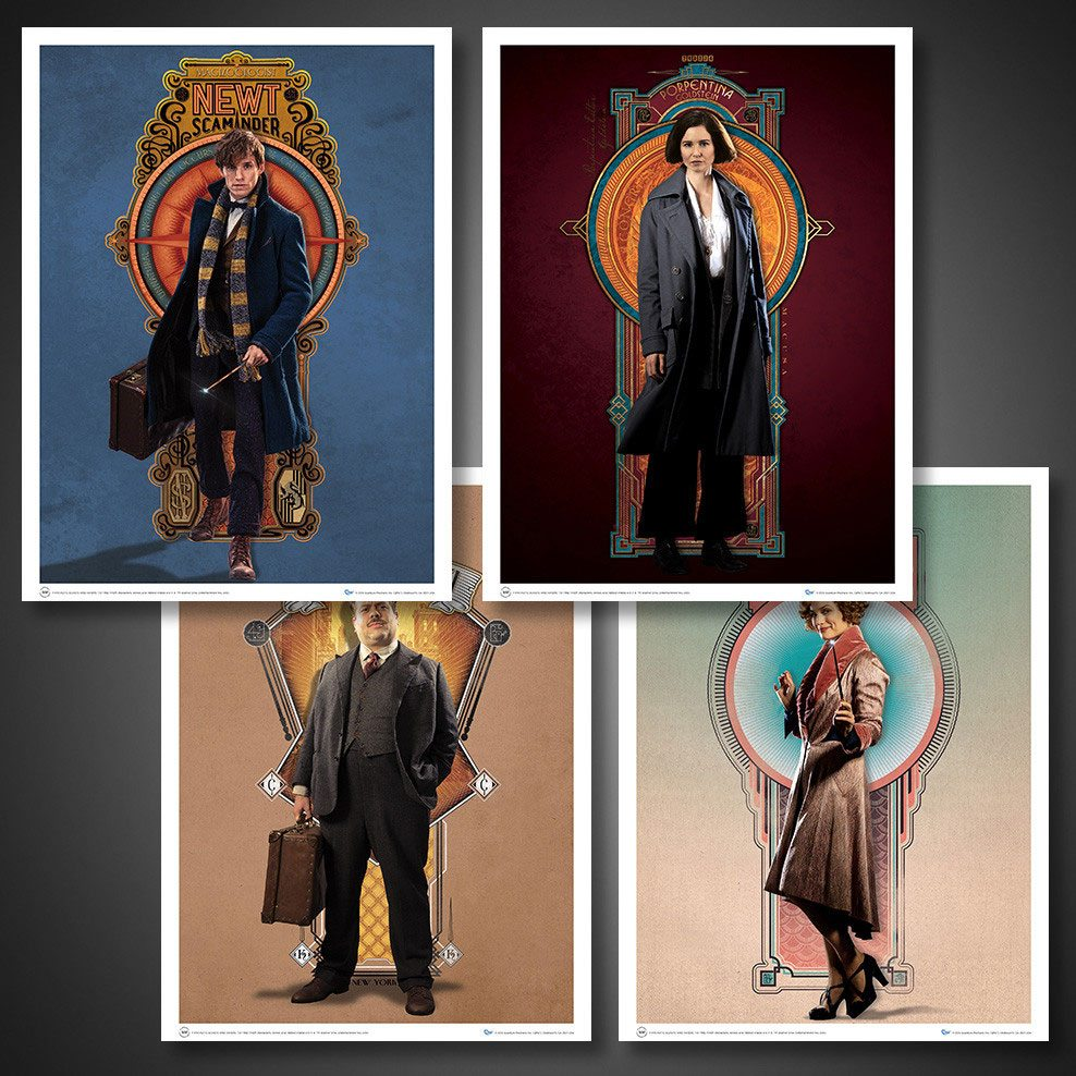 Fantastic Beasts Poster Set Art Prints #03 The Cast