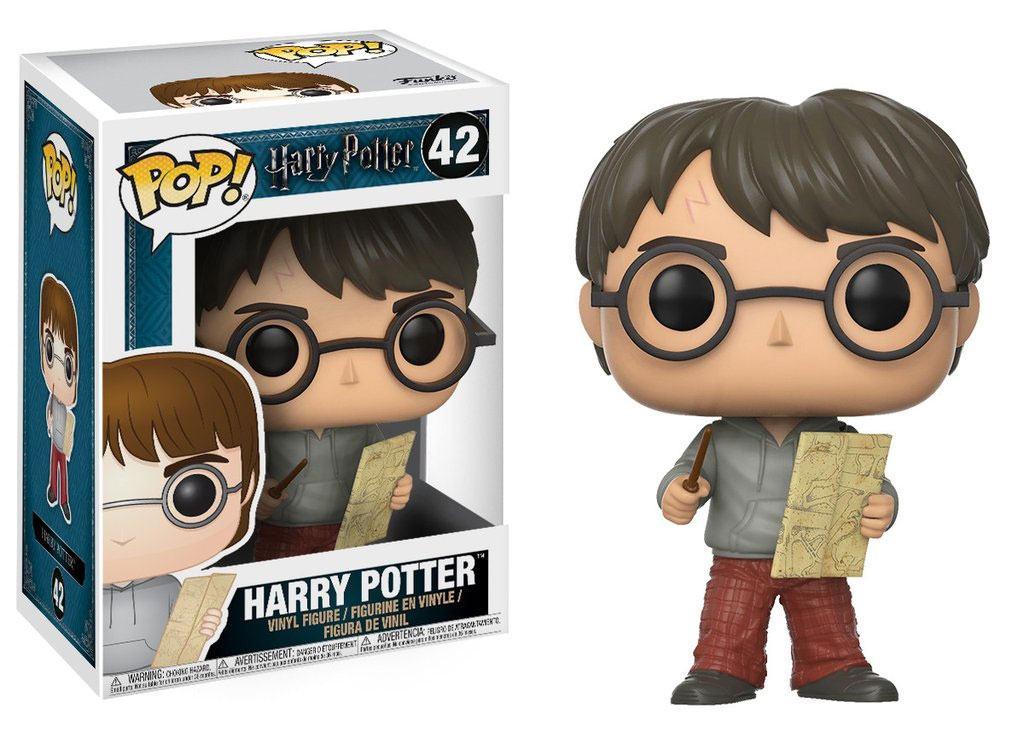 Harry Potter POP! Movies Vinyl Figure Harry Potter with Marauders Map 9 cm