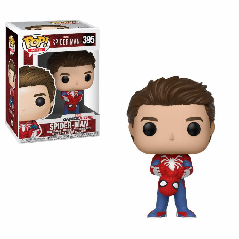 Spider-Man POP! Games Vinyl Figure Unmasked Spider-Man 9 cm
