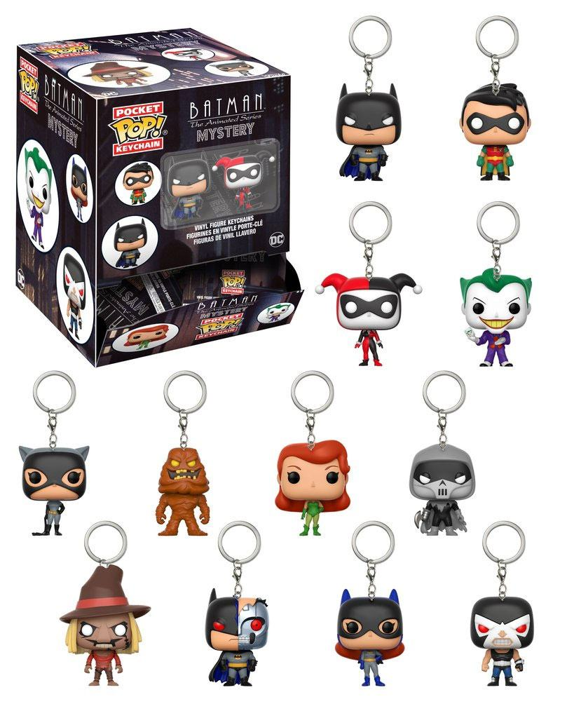 Batman The Animated Series Pocket POP! Vinyl Keychain 5 cm Display (24)