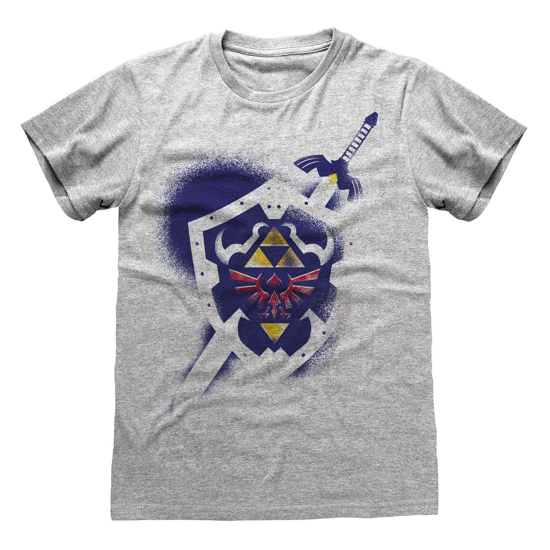 Legend Of Zelda T-Shirt Shield Size XL
