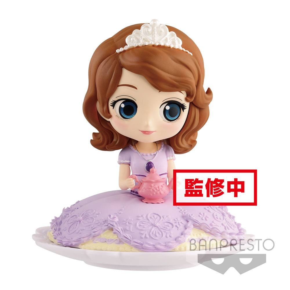 Disney Q Posket SUGIRLY Mini Figure Sofia Milky Color Ver. 9 cm