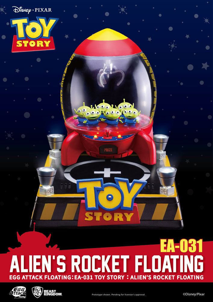 Toy Story Egg Attack Floating Model with Light Up Function Alien's Rocket 18 cm