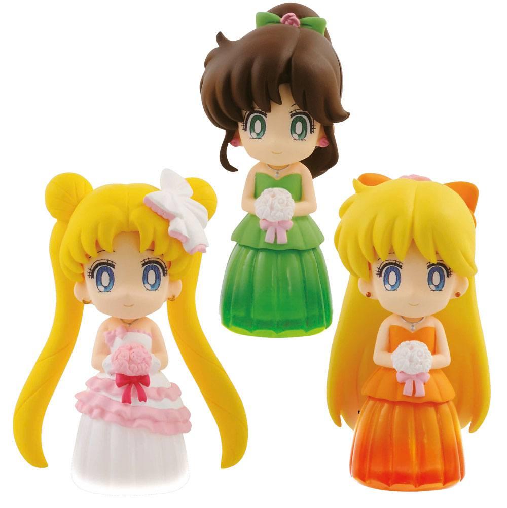 Sailor Moon Figures 6 cm Assortment Clear Colored Sparkle Dress Collection Vol. 2 (25)