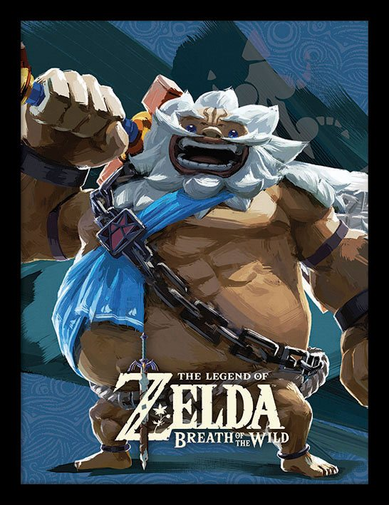 Legend of Zelda Breath of the Wild Framed Poster Divine Beast Vah Rudani 45 x 33 cm