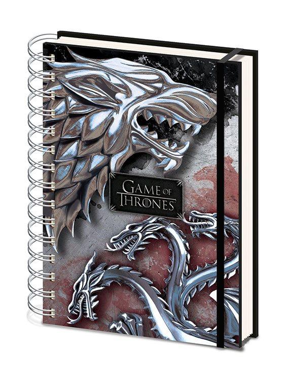 Game of Thrones Wiro Notebook A5 Stark & Targaryen