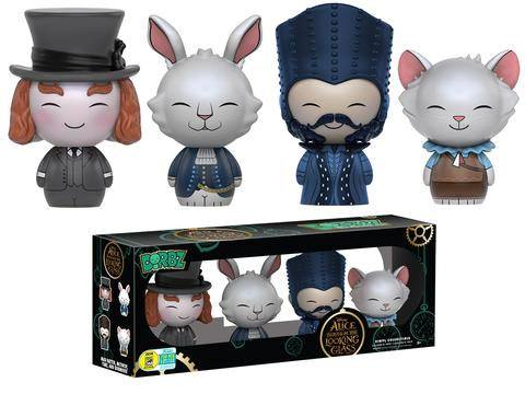 Alice Through the Looking Glass Dorbz Vinyl Figures 4-Pack SDCC 2016 Exclusive 8 cm