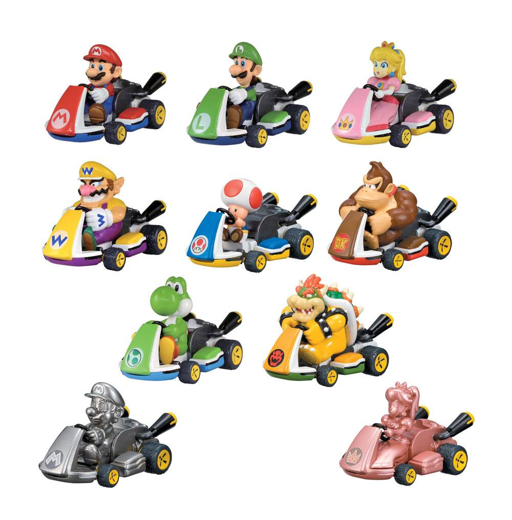 Mario Kart Pull Back Cars Mystery Pack Display (12)