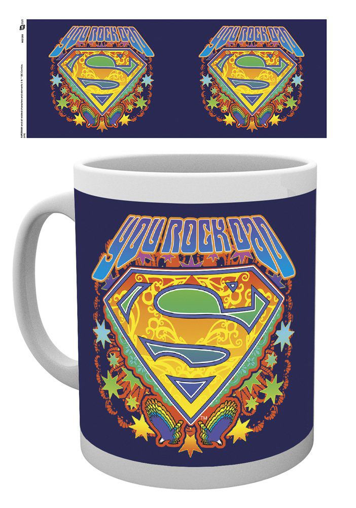 Superman Mug Fathers Day You Rock Dad
