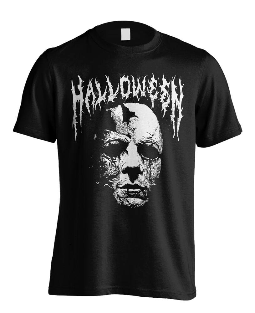 Halloween T-Shirt Black Metal Size L