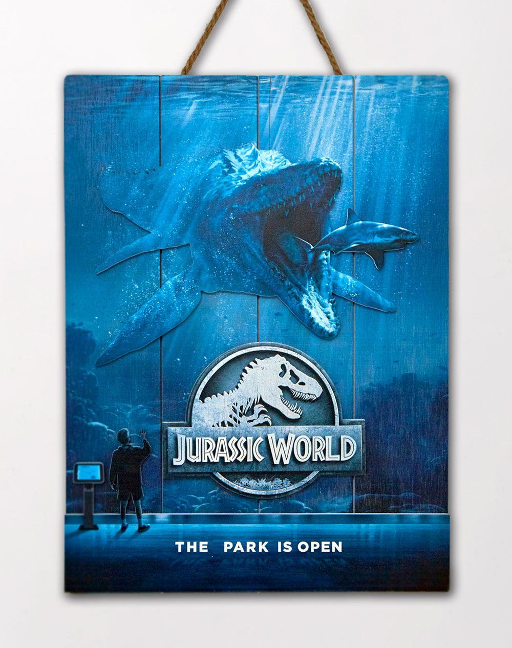 Jurassic World WoodArts 3D Wooden Wall Art Mossasaurus 30 x 40 cm