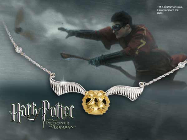 Harry Potter Necklace The Quidditch Golden Snitch