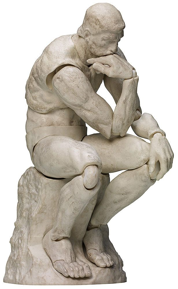 The Table Museum Figma Action Figure The Thinker Plaster Ver. 15 cm