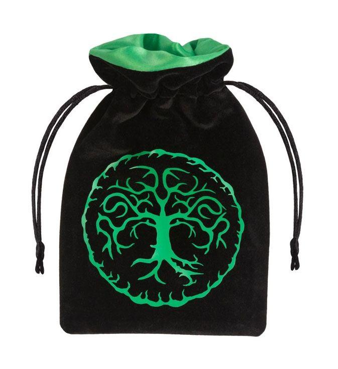 Forest Dice Bag Velour black & green