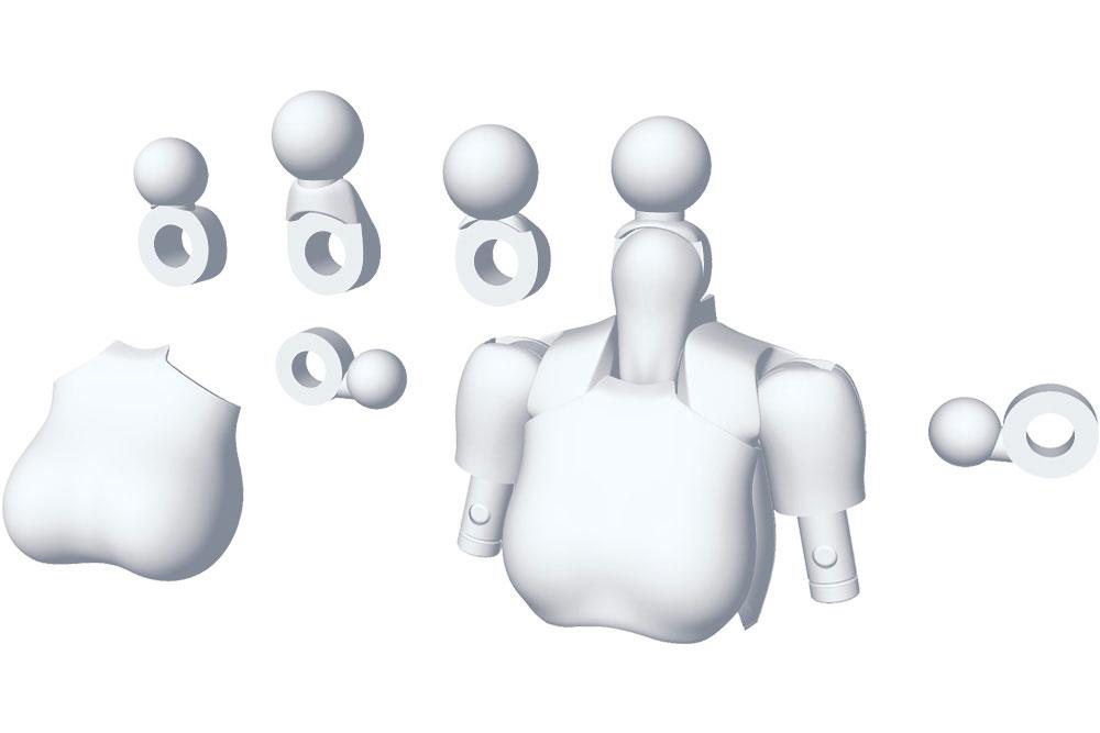 Megami Device M.S.G. Model Kit Accesoory Set 01 Tops Set White 2 cm