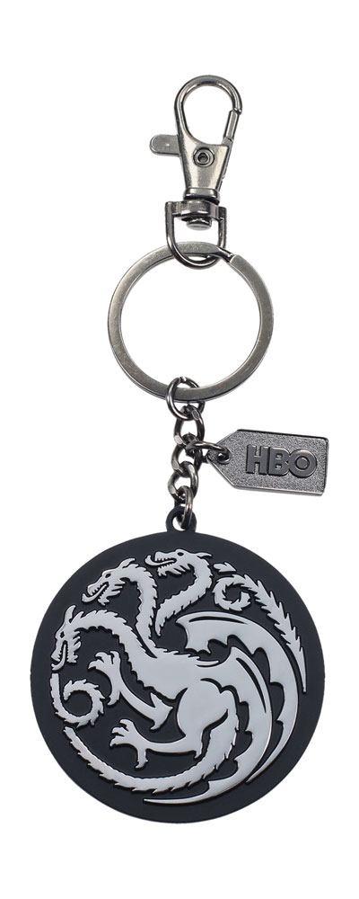 Game of Thrones Metal Keychain Targaryen Silver Logo
