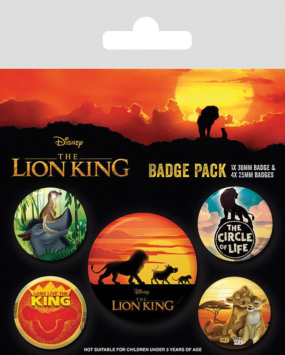 The Lion King Pin Badges 5-Pack Life of a King
