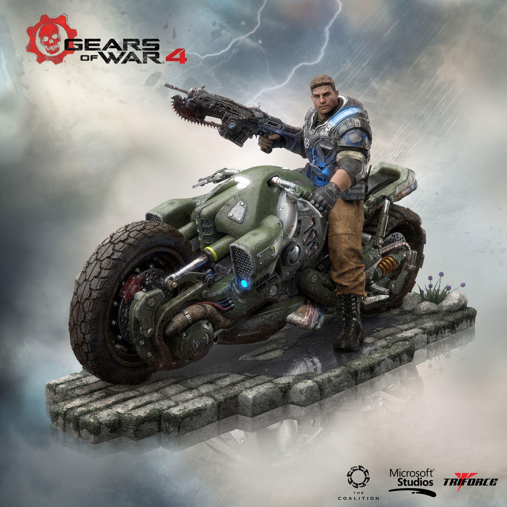Gears of War 4 Collector's Edition PVC Statue JD Fenix 28 cm