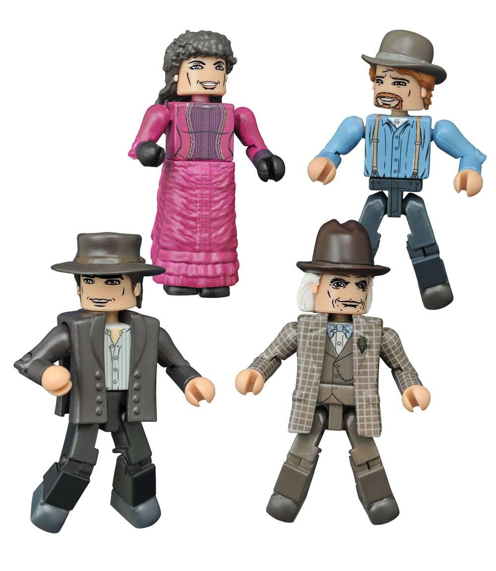 Back to the Future Minimates Action Figures 5 cm 30th Anniversary 1885 Box Set