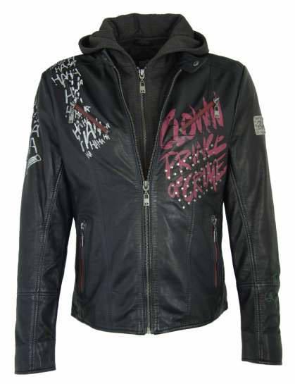Suicide Squad Ladies Leather Jacket Property of Joker Size XL