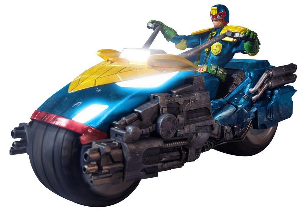 Judge Dredd Action Figure 1/12 Judge Dredd with Lawmaster Bike Box Set Previews Exclusive 17 cm