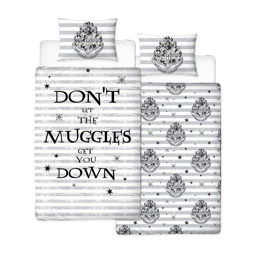 Harry Potter Duvet Set Reversible Spell 135 x 200 cm / 48 x 74 cm
