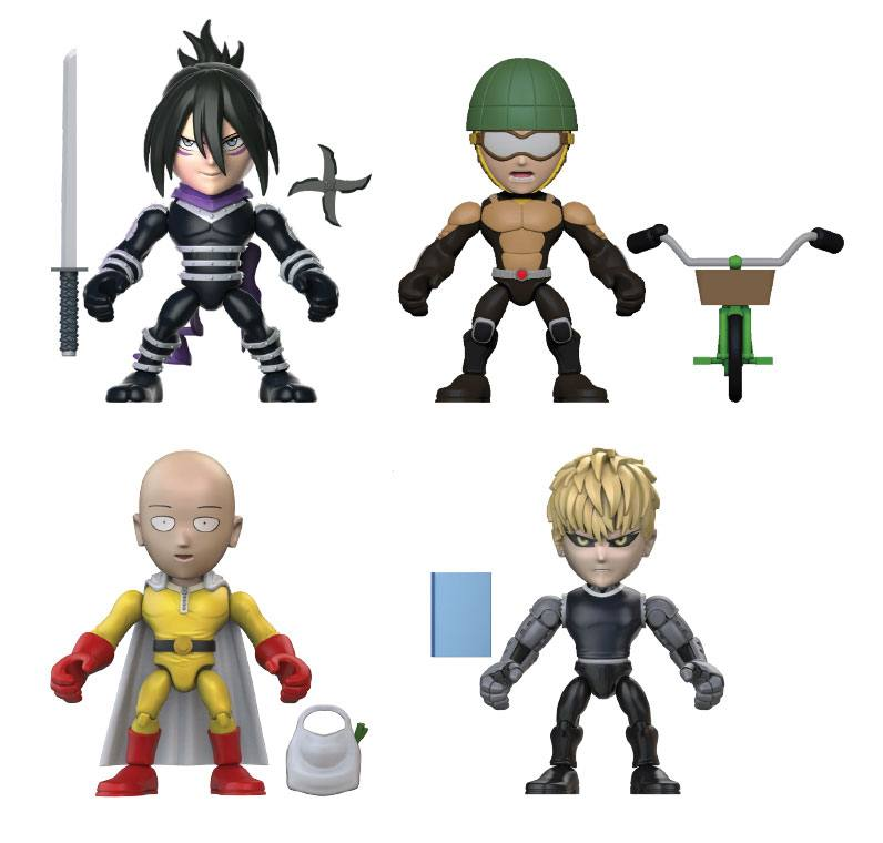 One Punch Man Action Vinyls Mini Figures 8 cm Display Wave 1 (12)