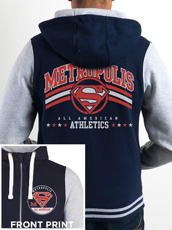 DC Comics Hooded Sweater Metropolis Athletics Size L