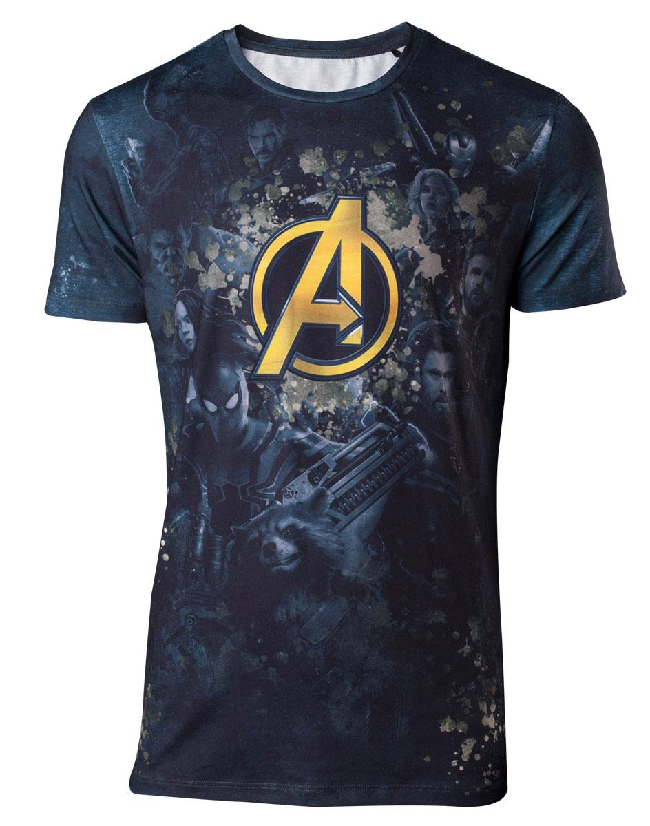 Avengers Infinity War Sublimation T-Shirt All Over Team  Size XL