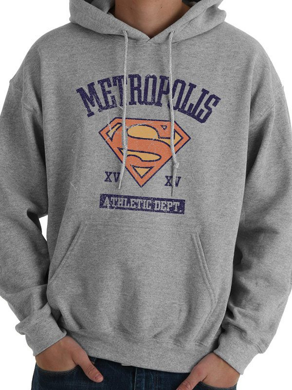 Supergirl Hooded Sweater Athletic Dept Size L