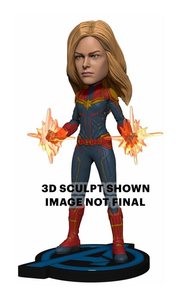 Avengers: Endgame Head Knocker Bobble-Head Captain Marvel 20 cm