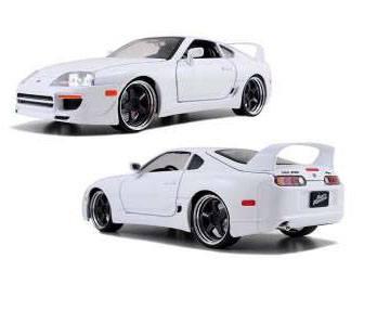Fast & Furious 7 Diecast Model 1/18 1995 Toyota Supra *white*