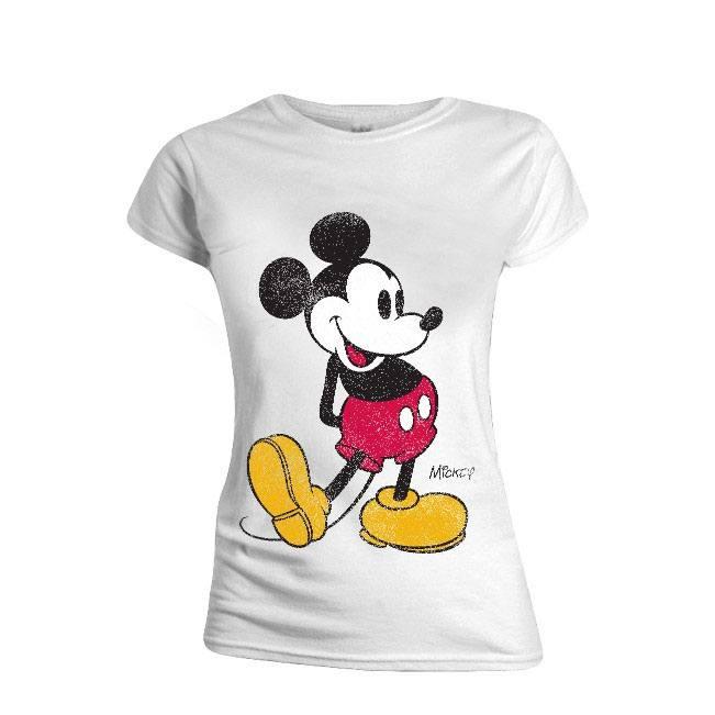 Mickey Mouse Ladies T-Shirt Classic Kick Size XL