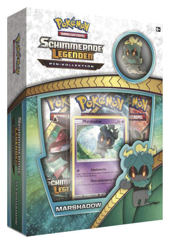 Pokemon Sun and Moon 3.5 Shining Legends Pin Box Marshadow *German Version*