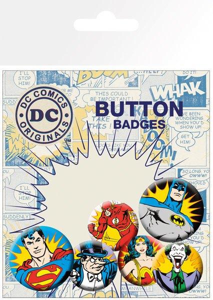 DC Comics Pin Badges 6-Pack Villains