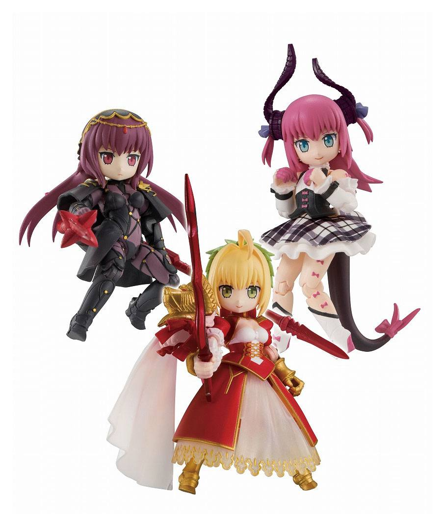 Fate/Grand Order Desktop Army Figures 8 cm Assortment Nero & Elizabeth & Scasaha (3)