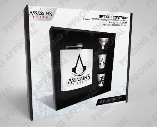 Assassins Creed Hip Flask Set Logo